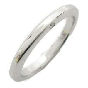 JEWELRY Platinum ring bague anello simple #11 PT950 Used