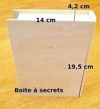 boite en bois brut pour bureau,bibliothèque boite à secrets en forme de livre