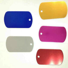 10 Pcs Random Color Tags for Pets With Personalised Engraving Metal Cat DogTag