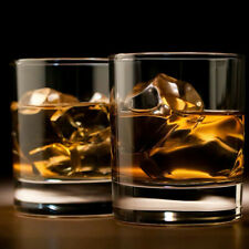 6 Pack 6.5OZ Whiskey Rocks Glasses with Heavy Base and  Crystal Old Fashioned