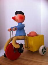ancien jouet bois à tirer VILAC livreur de cochon