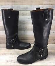 Nine West Vintage America Takedown Black Leather Knee High Riding Boots sz 8.5 M