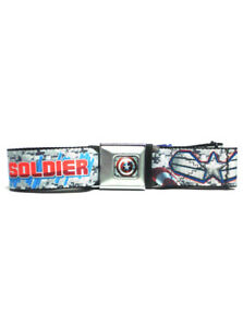 Captain America Seatbelt Belt Winter Soldier Marvel Comics Super Heroes New NWT