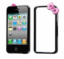 iPhone 4/4S Black/Hot Pink MyBumper Bow Phone Case