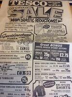 H7-1 1971 Advert Ephemera Penzance Tesco Sensational Sale