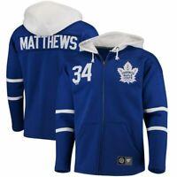 AUTHENTIC Toronto Maple Leafs AUSTON MATTHEWS Heavy Breakaway Hoody Jersey M NWT