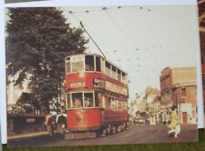 "Class EH tramcar built 1928 at Erith Church in 1952 Collectors postcard  6"" x 4"""