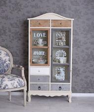 Display Case Cottage Wall Unit Bookcase Vintage Cabinet Dresser
