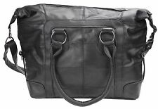 Large Soft Leather SHOPPER Style Handbag Shoulder Bag Detachable Strap 1928