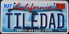 "CALIFORNIA "" WILDLIFE WHALE - COAST - TILEDAD CA Specialty Vanity License Plate"
