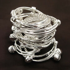 Wholesale 10Pcs Cute S80 Silver Children Kid Baby Bell Bracelet Bangle Anklet