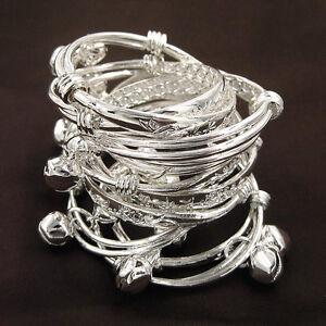 Wholesale 10Pcs Cute S80 Silver Children Kid Baby Bell Bracelet Bangle Anklet