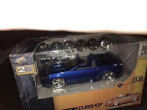 Jada Toys Dub City DUBSHOP 2002 Ford Blue Mustang 1/24 die cast- K-47