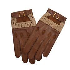 CLASSIC Gr 8,5 Leder Gestrickt Autohandschuhe Leather Driving Gloves Made France
