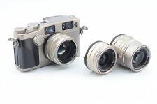 Ex Contax G2 Rangefinder Camera w/ 45mm F/2, 28mm F/2.8, 90mm F/2.8 from JAPAN