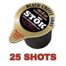 SToK SHOTS - 25 PACK - CAFFEINATED BLACK COFFEE SHOT EXTRA CAFFEINE HIGH ENERGY