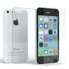 Für Apple iPhone 5c Schutzhülle Silikon Handy Cover Slim Case Hülle + Schutzglas