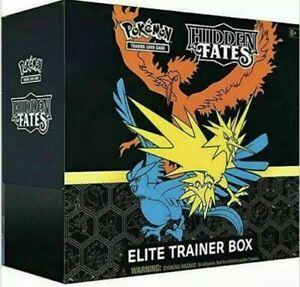 Pokemon English Hidden Fates Elite Trainer Box In Stock Sealed