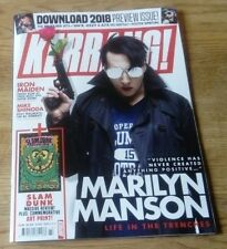 Kerrang! magazine #1725 Marilyn Manson, Iron Maiden, Download Poster Special