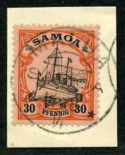 Samoa Mi 12  Kab.-Briefstück  Malua  Kriegsdatum