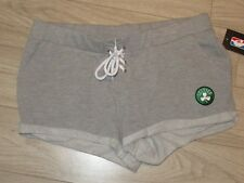 Boston Celtics NBA Basketball Womens Shorts Gray Large