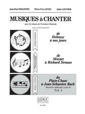 Level Musiques A Chanter Cycle 2 Niv Moy Vol 4 Voice Learn to Play MUSIC BOOK