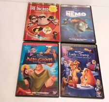 Disney Lady And The Tramp Emperors New Groove The Incredibles Finding Nemo DVDs