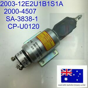 Diesel Fuel Shut Off Flame Out Solenoid 2000-4507 2003-12E2U1B1S1A AXS20620 12V