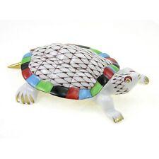 Hungarian Porcelain Hollohaza Fishnet Turtle Figurine