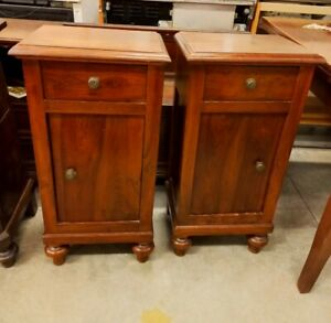 Vintage Antique Pair Wooden  Bed Side Table,Side Cabinet, Night Stand
