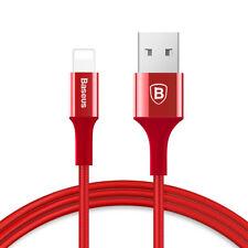 Original Lot Aluminium Alloy Lightning USB Cable F Apple iPhone 7 6 6s Plus 5 SE 1m Red 1x
