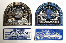"""Alien Covenant Movie DELUXE Uniform/Costume 4"""" Wide Embroidered Patch Set of 4"""