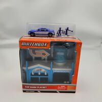 Matchbox Car Wash Playset Die Cast Car Figures NIP Mattel 2012 Gift Set