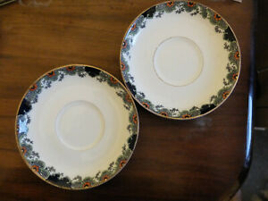 Vintage Crown Staffordshire pair odd saucers will separate
