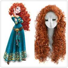 Princess Merida Brave Cosplay Wig Classic Brown Long Spiral Curly Synthetic Wigs