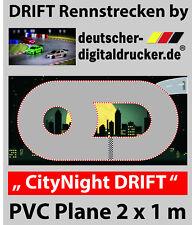 CITY NIGHT DRIFT Rennstrecke - RC Cars - Robuste Plane 4 farbig - 2 x 1 m