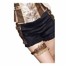 Steampunk Thigh Garter w/ Bullet Casings Western Costume Accessory Brown Lace