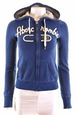 ABERCROMBIE & FITCH Womens Hoodie Sweater Size 6 XS Blue Cotton  HM11