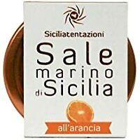 CRISTALLI DI SALE MARINO SICILIANO ALL'ARANCIA 100 GRAMMI