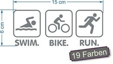Triathlon 2 schwimmen radfahren laufen Sport IronMan Aufkleber Sticker #7884