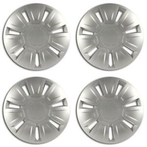 Equip 14'' Universal Fit ABS Plastic Wheel Trim Covers Stylish Hubcaps Set of 4