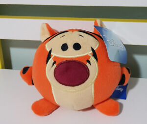 TIGGER DISEMBODIED HEAD PLUSH TOY 15CM HAS TAGS WINNIE THE POOH CHARACTER!