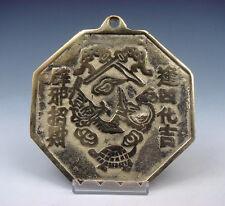 Brass Chinese FENG-SHUI BAGUA Mirror YING-YANG Symbol Chi Evil Blocker #1221502