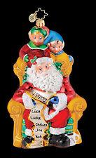 Christopher Radko - Peekin' Pals - Santa & Elves - Retired Ornament - 1015042