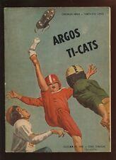 10-15 1961 Canadian Football League Program Toronto Argonauts vs Hamilton Tiger