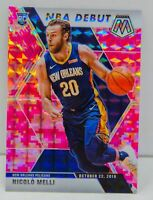 Nicolo Melli RC 2019-20 CAMO PINK MOSAIC PRIZM NBA Debut Rookie Card #279 Pels