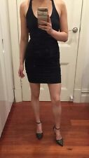 Kookai Black Bodycon Mini Dress Single Strap Backless Party Clubbing Small