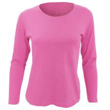 T-shirt, maglie e camicie da donna a manica lunga rosa taglia XXL