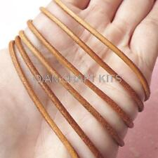 10 yards Genuine Leather Strings Round Leather Cord Strips Straps LIGHT BROWN