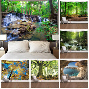 Wall Scenery Forest Tapestry Background Hanging  Bedspread Cover Home Decor